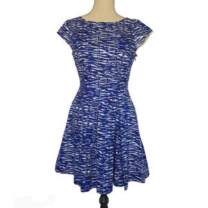 Felicity & Coco Cap Sleeve Dress Blue Size Small
